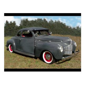 Antique 1939 Dodge Coupe Postcard