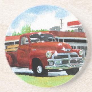 Antique 1954 Chevy Truck Sandstone Coaster
