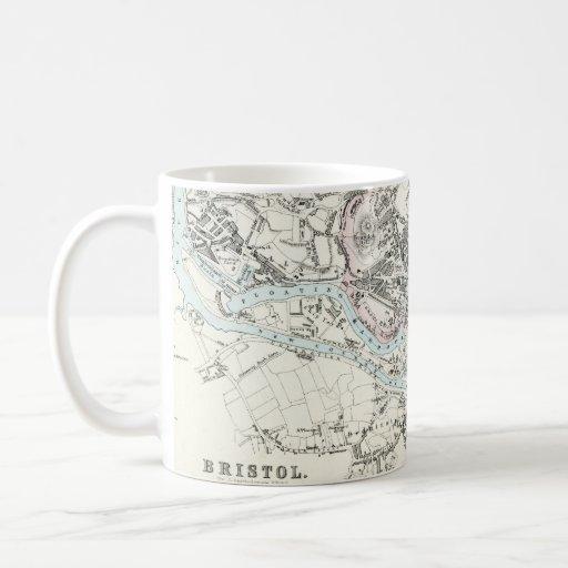 Antique 19th Century Map of Bristol England Classic White Coffee Mug