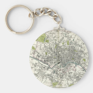 Antique 19th Century Map of Leeds Keychain