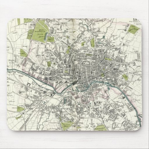Antique 19th Century Map of Leeds Mouse Mat