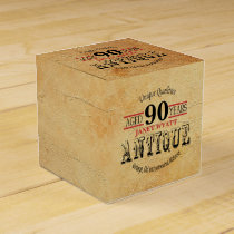 Antique 90th Birthday Design Favor Box