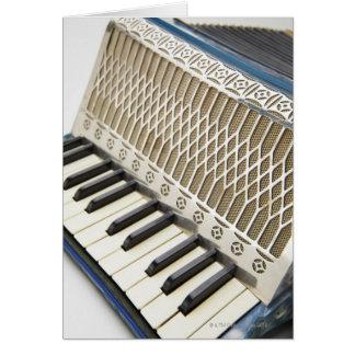 Antique Accordion Keyboard Card