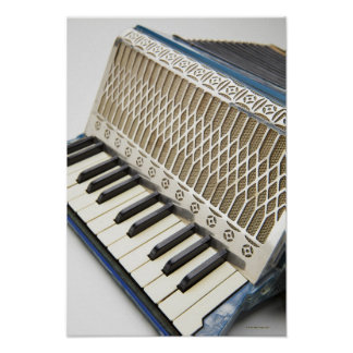 Antique Accordion Keyboard Poster