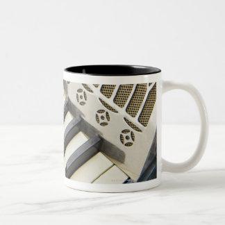 Antique Accordion Keyboard Two-Tone Coffee Mug