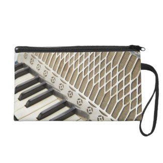 Antique Accordion Keyboard Wristlet Purse