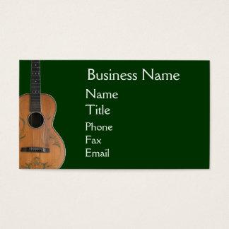 Antique Acoustic Guitar Business Cards