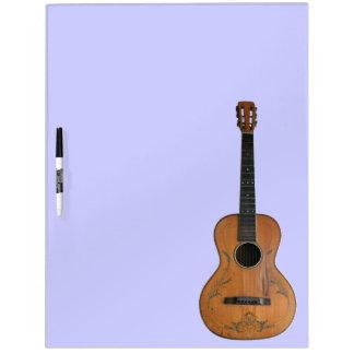 Antique Acoustic Guitar Dry Erase Board