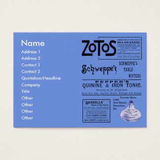 Antique Ads Chubby Business Card