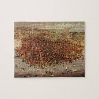 Antique Aerial Map City San Francisco, California Jigsaw Puzzle