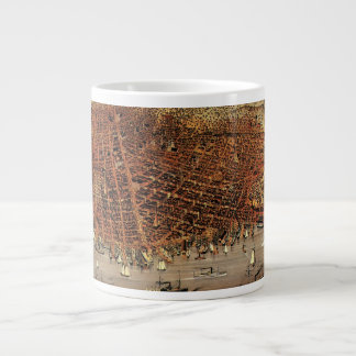 Antique Aerial Map City San Francisco, California Large Coffee Mug