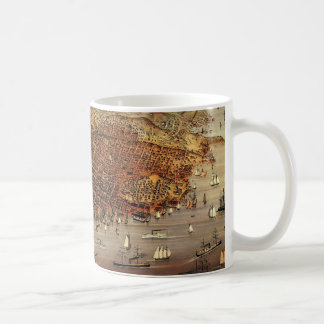 Antique Aerial Map City San Francisco, California Classic White Coffee Mug