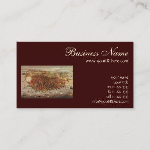 San francisco california business cards templates zazzle antique aerial map of san francisco california business card reheart Choice Image
