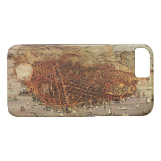 Antique Aerial Map of San Francisco, California iPhone 7 Case