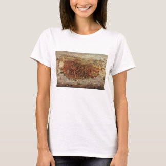 Antique Aerial Map of San Francisco, California T-Shirt