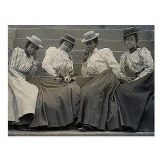 Antique African American Women Photo Postcard