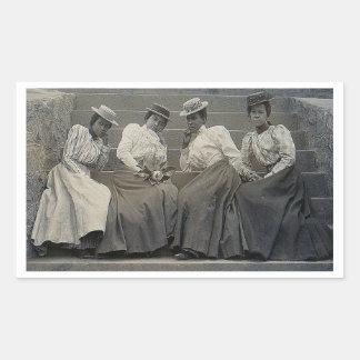 Antique African American Women Photo Rectangular Sticker