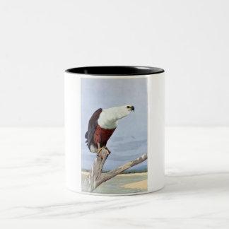 Antique African Fish Eagle Print Two-Tone Coffee Mug