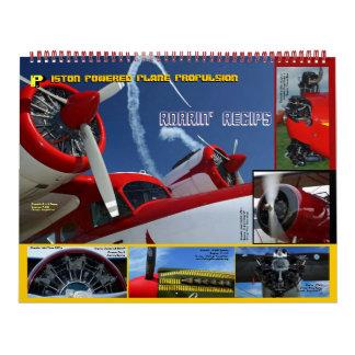 Antique Aircraft Engines Huge 2015 Calendar