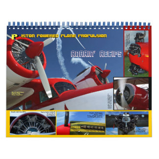 Antique Aircraft Engines standard size 2014 Calendar