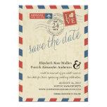 Antique Airmail Save the Date Custom Invitation