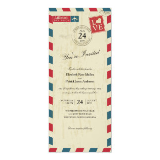 Antique Airmail Wedding Card