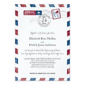Airmail themed wedding collection