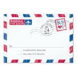 Antique Airmail Wedding RSVP Custom Invitations