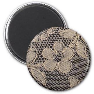 Antique Alencon Lace 2 Inch Round Magnet