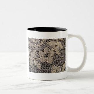Antique Alencon Lace Two-Tone Coffee Mug