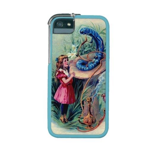 Antique Alice in Wonderland Book Art Case For iPhone 5