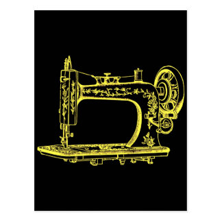 Antique Altered Light Design Sewing Machine Postcard
