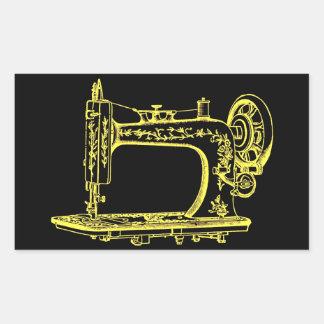 Antique Altered Light Design Sewing Machine Rectangular Sticker