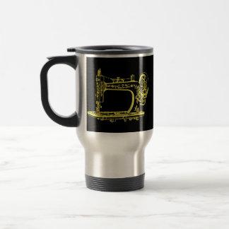 Antique Altered Light Design Sewing Machine Travel Mug