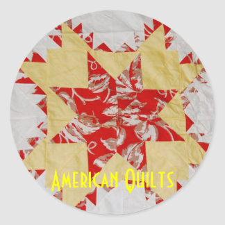 Antique American Quilts Classic Round Sticker
