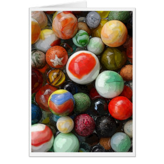 Antique and contemporary marbles stationery note card