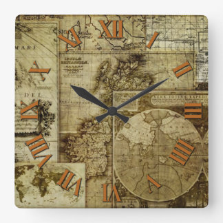 Antique and Vintage Old world maps Wall Clock