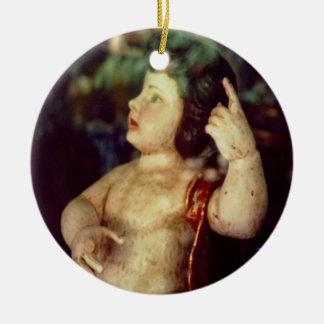 Antique Angel Ornament, Spain Ceramic Ornament