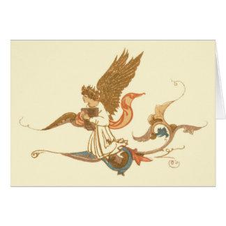 Antique Angel Print Card