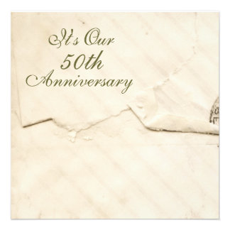 Antique Anniversary Personalized Announcement