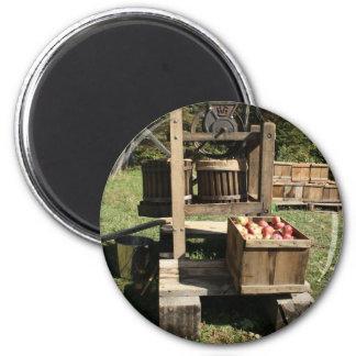 Antique Apple Cider Press 2 Inch Round Magnet