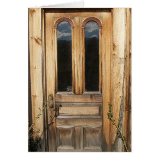 Antique Architectural Wooden Door Card