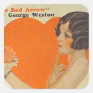 Antique Art Deco Collier's Magazine Cover Square Sticker