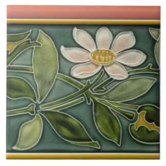 Antique Art Nouveau Border Wall Tile Repro #2