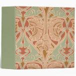 Antique Art Nouveau Eels Sea Theme Pattern Binder