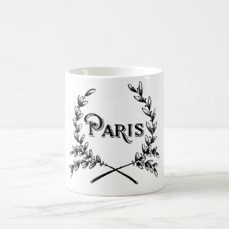 Antique Art Nouveau Paris Wreath Logo Coffee Mug