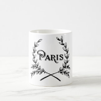 Antique Art Nouveau Paris Wreath Logo Mug