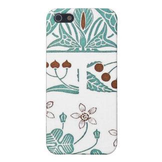 Antique Art Nouveau Pattern Design Maurice Pillard Case For iPhone SE/5/5s