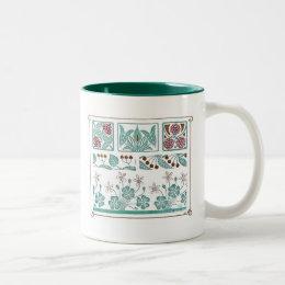 Antique Art Nouveau Pattern Design Maurice Pillard Two-Tone Coffee Mug