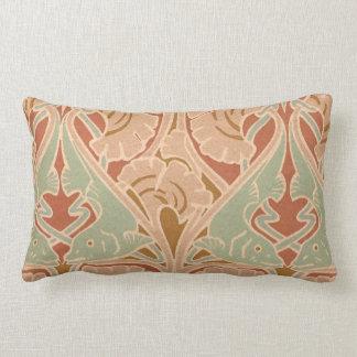 Antique Art Nouveau Print Pattern Pillow